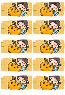 Pumpkin Gift Tag Template