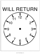 Will Return Sign Template