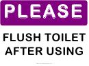 Please Flush Toilet