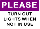 Please Turn Out Lights