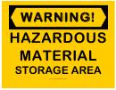 Warning Hazardous Material