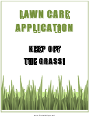 Lawn Care Application