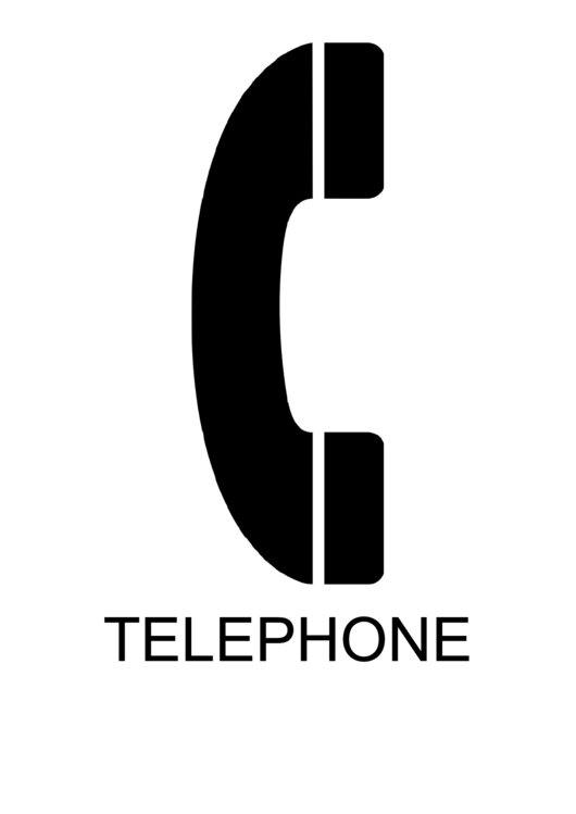 Telephone With Caption Sign