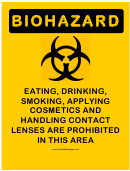 Warning Sign Template - Biohazard