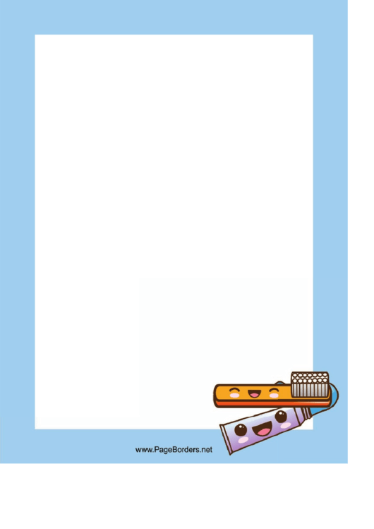Toothbrush Page Border Templates Printable pdf