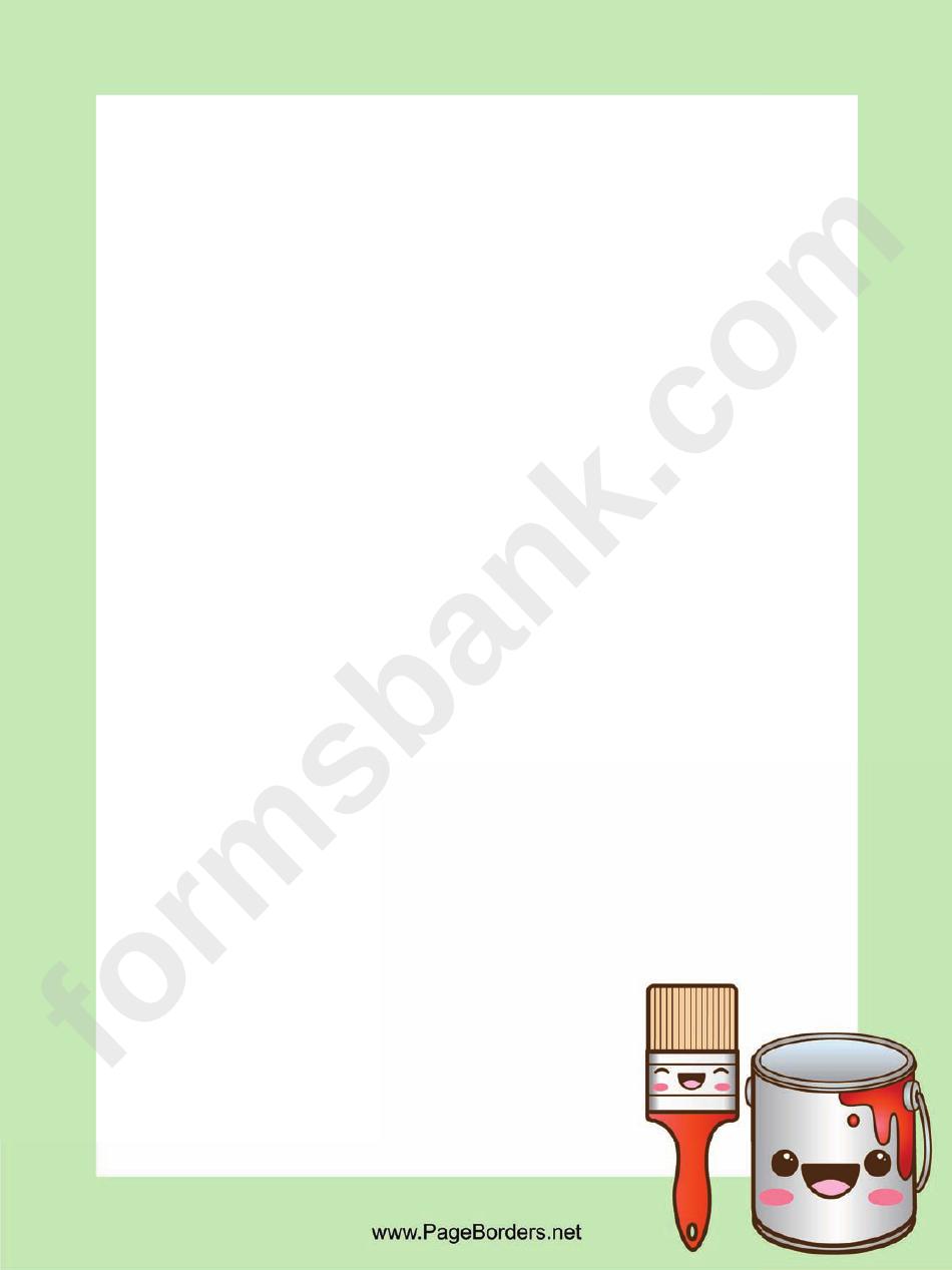 Paint Page Border Templates