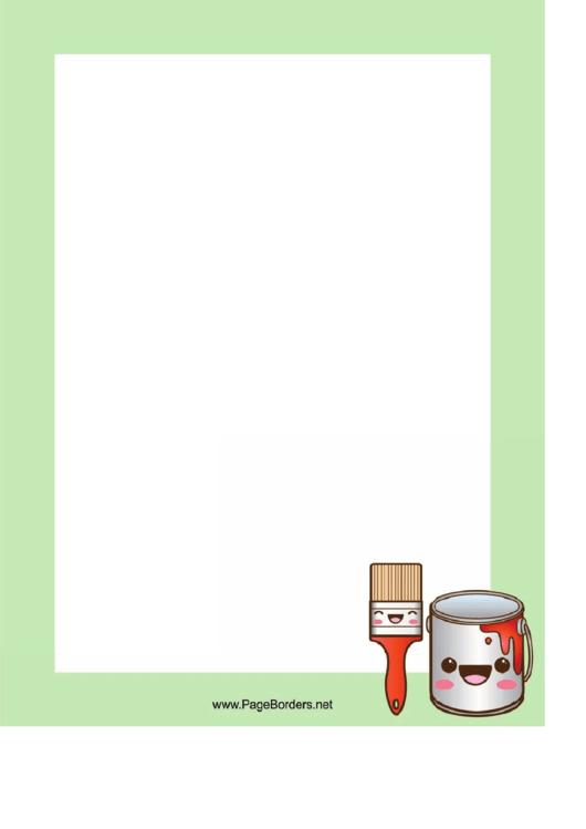 Paint Page Border Templates Printable pdf