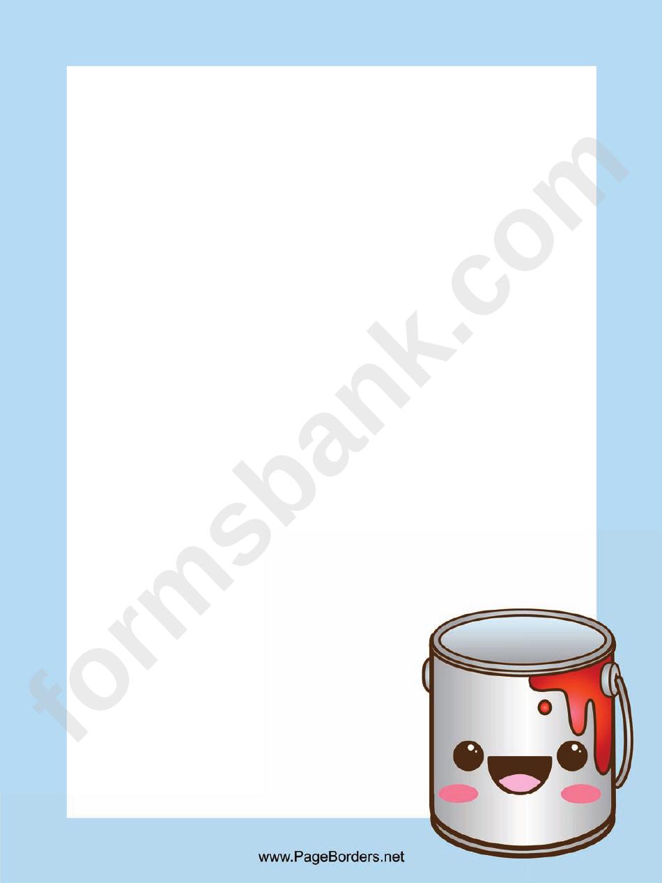 Blue Paint Page Border Templates