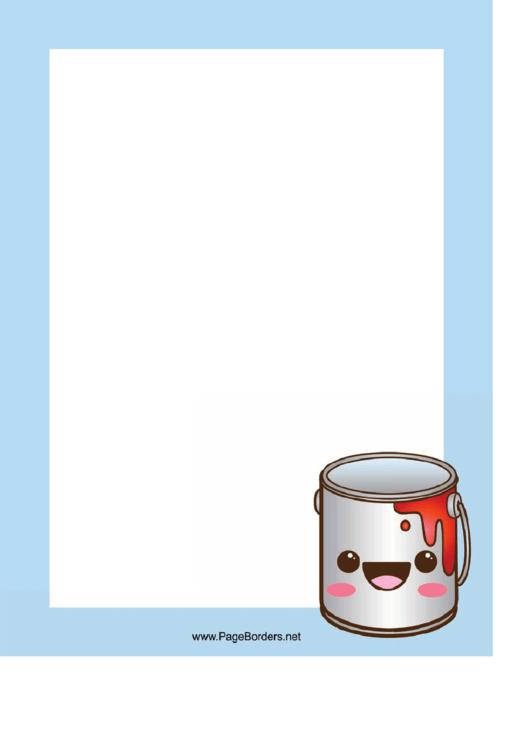 Blue Paint Page Border Templates Printable pdf