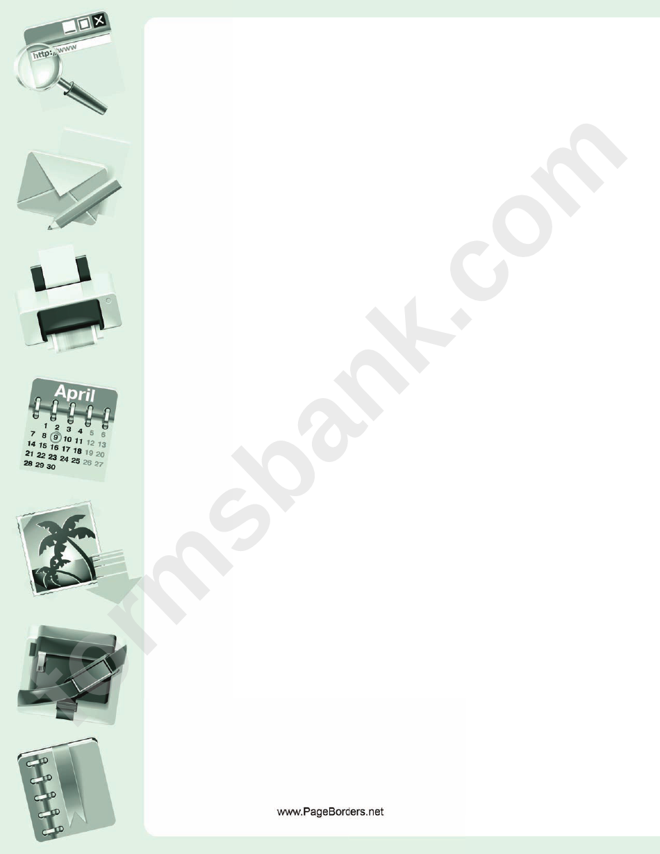 Office Gear Page Border Templates