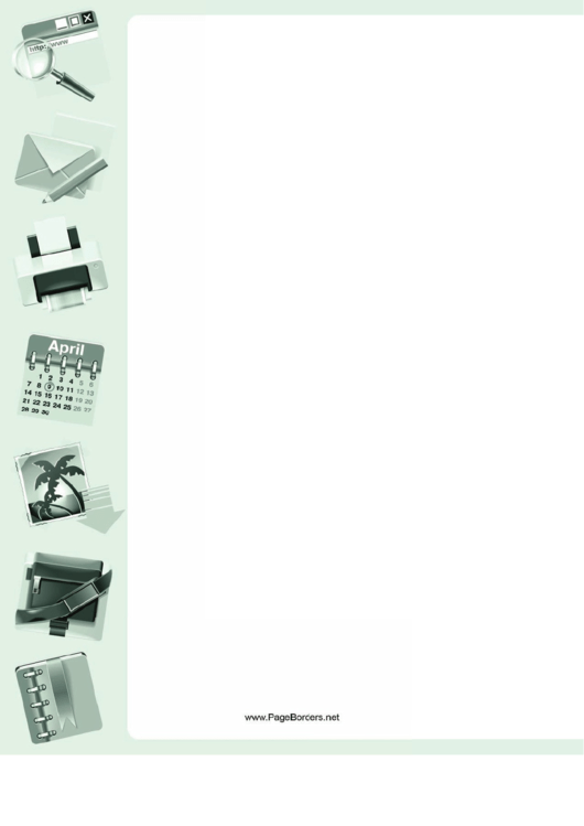 Office Gear Page Border Templates Printable pdf