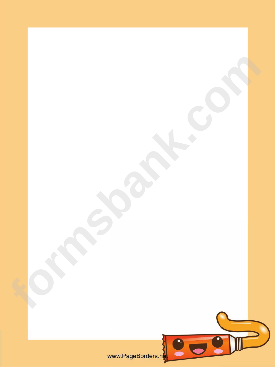 Artists Paint Page Border Templates