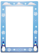 Frost Penguin Page Border Templates