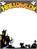 Halloween Page Border Templates