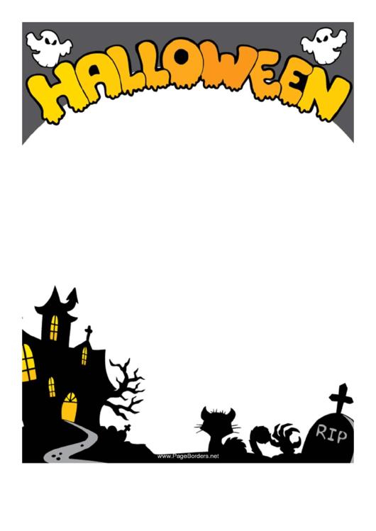 Halloween Page Border Templates Printable pdf