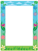 Summer Page Border Templates