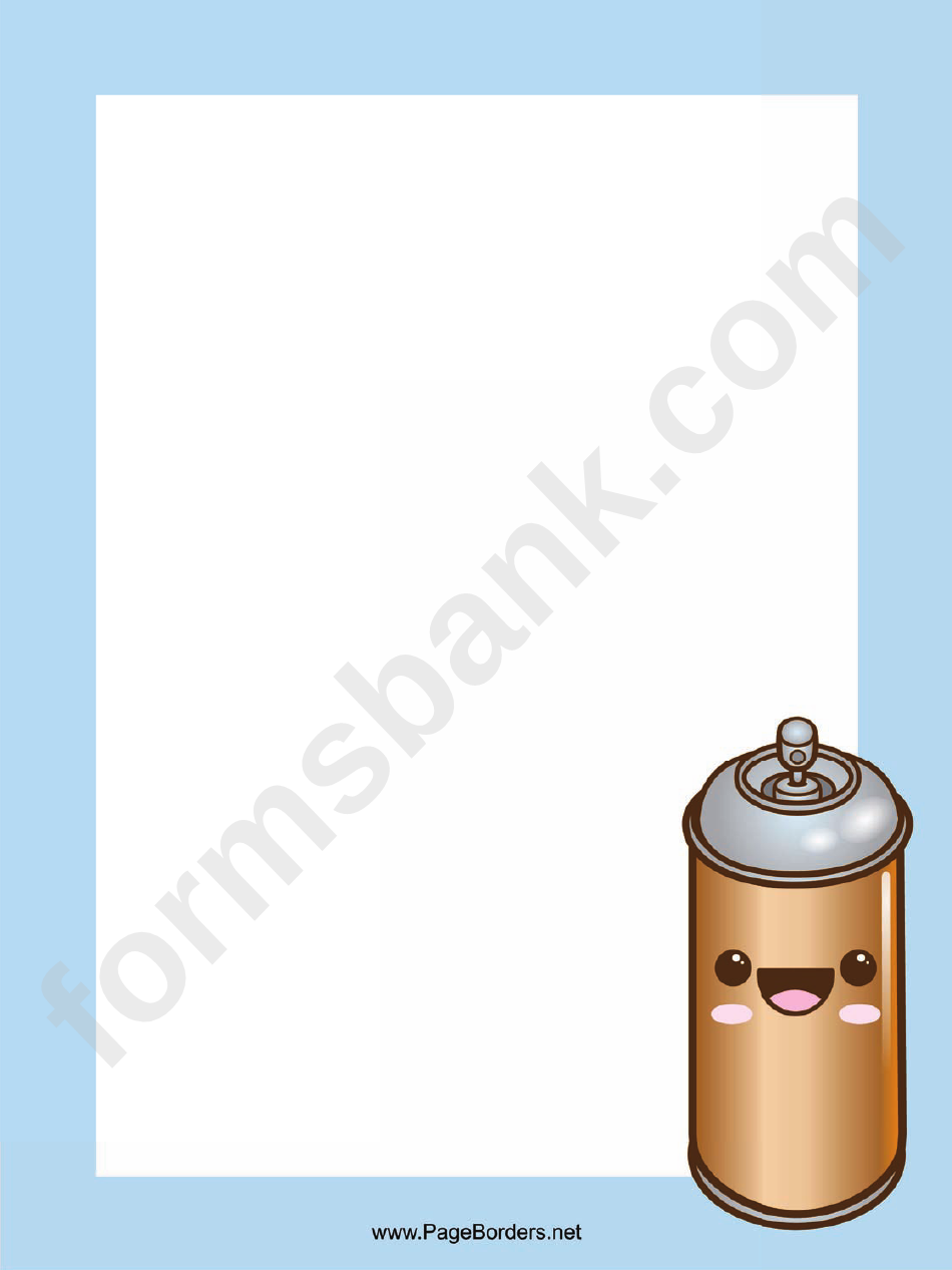 Spray Can Page Border Templates