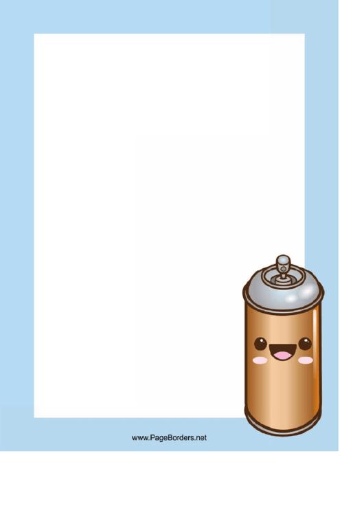 Spray Can Page Border Templates Printable pdf