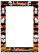 Happy Halloween Page Border Templates