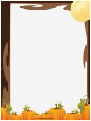 Moon And Pumpkins Page Border Templates