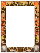 Thanksgiving Page Border Template