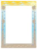 Beach Page Border Templates