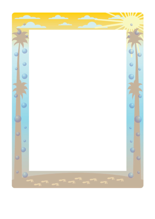 Beach Page Border Templates Printable pdf