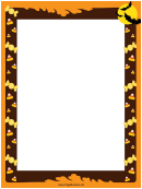Candy And Bats Page Border Templates