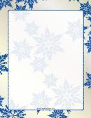 Snowflakes Page Border Templates