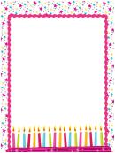 Birthday Page Border Templates