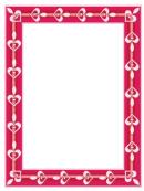 Hearts Page Border Templates