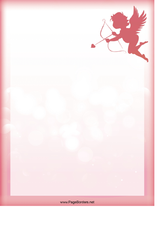 Cupid Page Border Templates Printable pdf