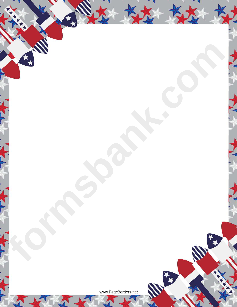 4th Of July Page Border Templates
