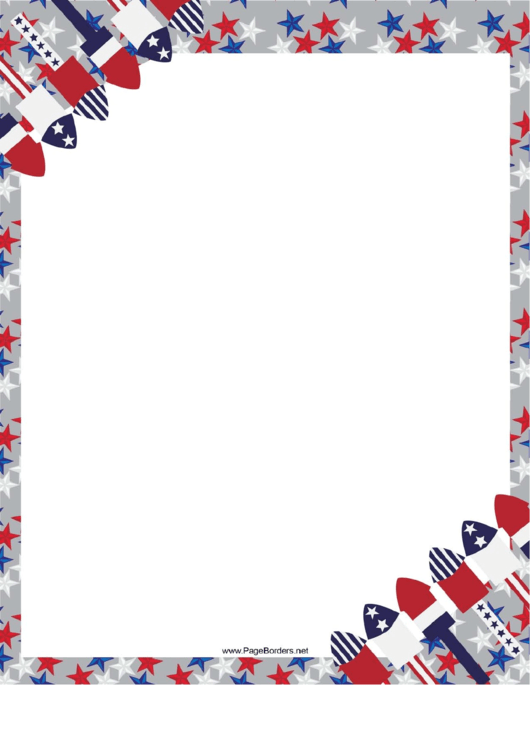 4th Of July Page Border Templates Printable pdf