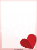 Red Heart Page Border Templates