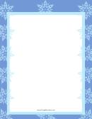 Snowflakes Blue Page Border Templates