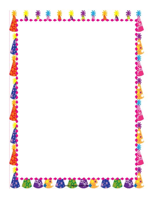 Party Page Border Templates Printable pdf