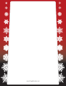 Snowflakes On Red Page Border Templates