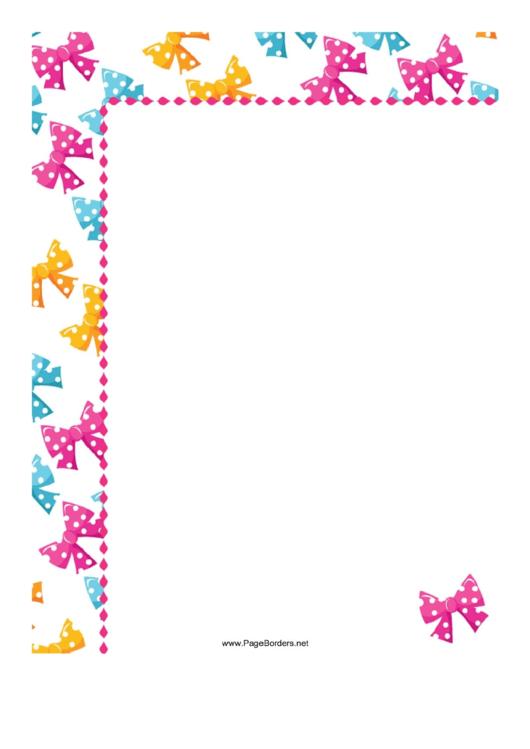 Ties Page Border Templates Printable pdf