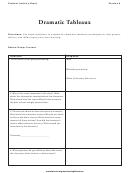 Dramatic Tableaux Literature Worksheet