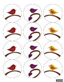 Bird Labels Template