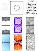 Square Fold Up Walls For Wiz Wars Template