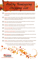 Healthy Thanksgiving Shopping List Template