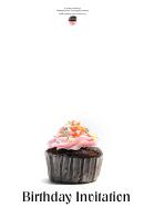 Cupcake Birthday Dinner Invitation Template