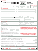 Form Sd 100 - School District Income Tax Return - 2013