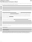 Form Sdb - Non-minnesota Contractor's Bond