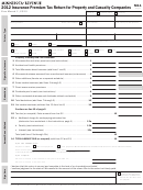 Form M11 - Insurance Premium Tax Return For Property And Casualty Companies - 2012