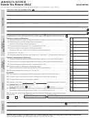 Form M706 - Estate Tax Return - 2012
