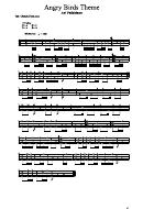 Ari Pulkkinen - Angry Birds Theme Sheet Music