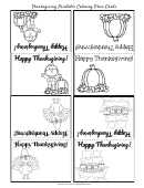 Thanksgiving Coloring Place Cards Template
